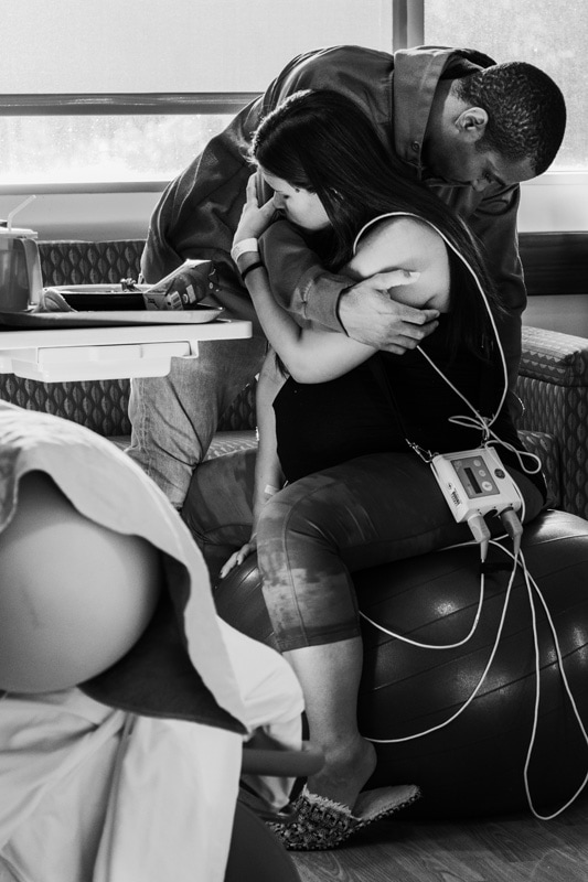 Seattle Birth Photography, couple holding eachother